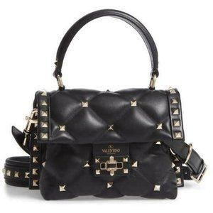 Valentino Candystud Mini Quilted Top Handle